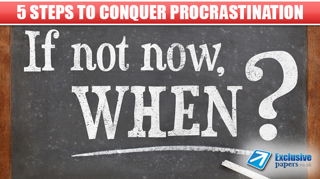 5 Steps to Conquer Procrastination