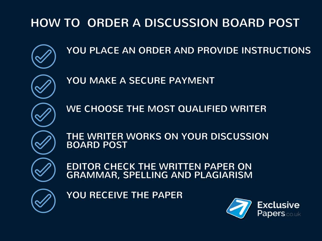 how to hire discussion board post writer